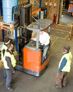 Wallace Forklift Training London - Reach Forklift